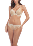 Embrace Lace Soutien-gorge Plunge Naturally Nude / Ivory