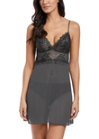 Lace Perfection Chemise Charcoal